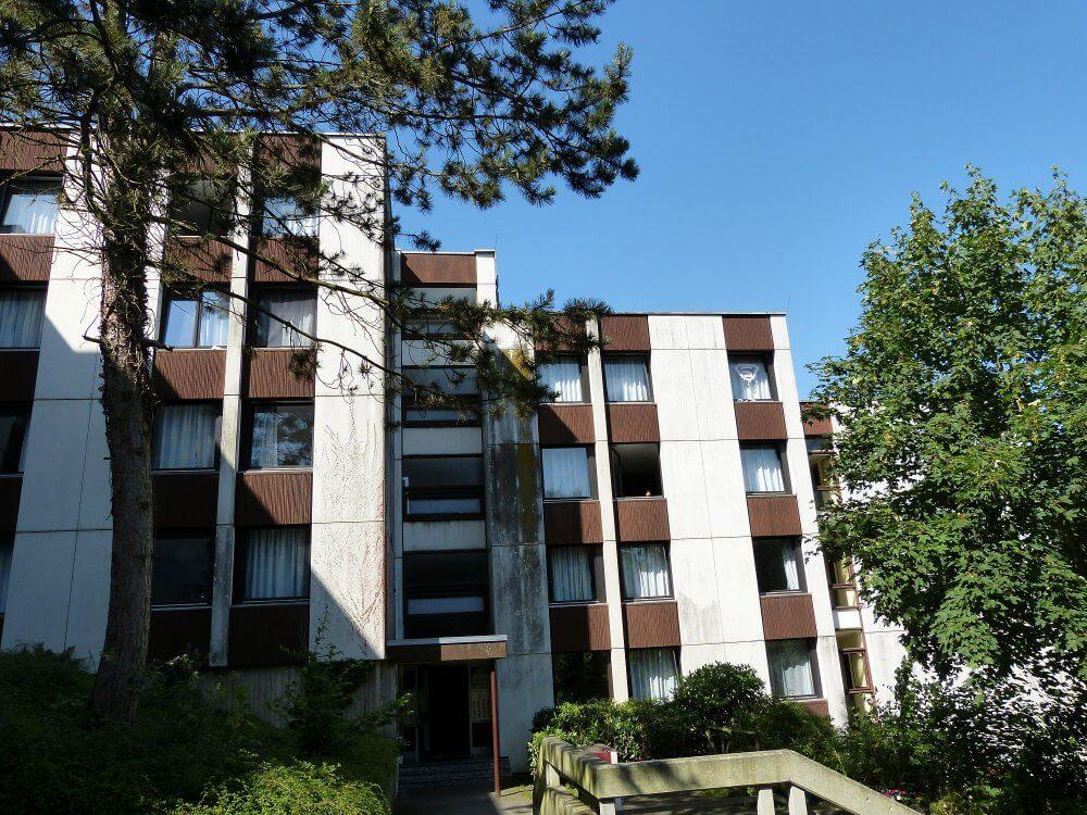 Blick auf die Karl Egermann Häuser