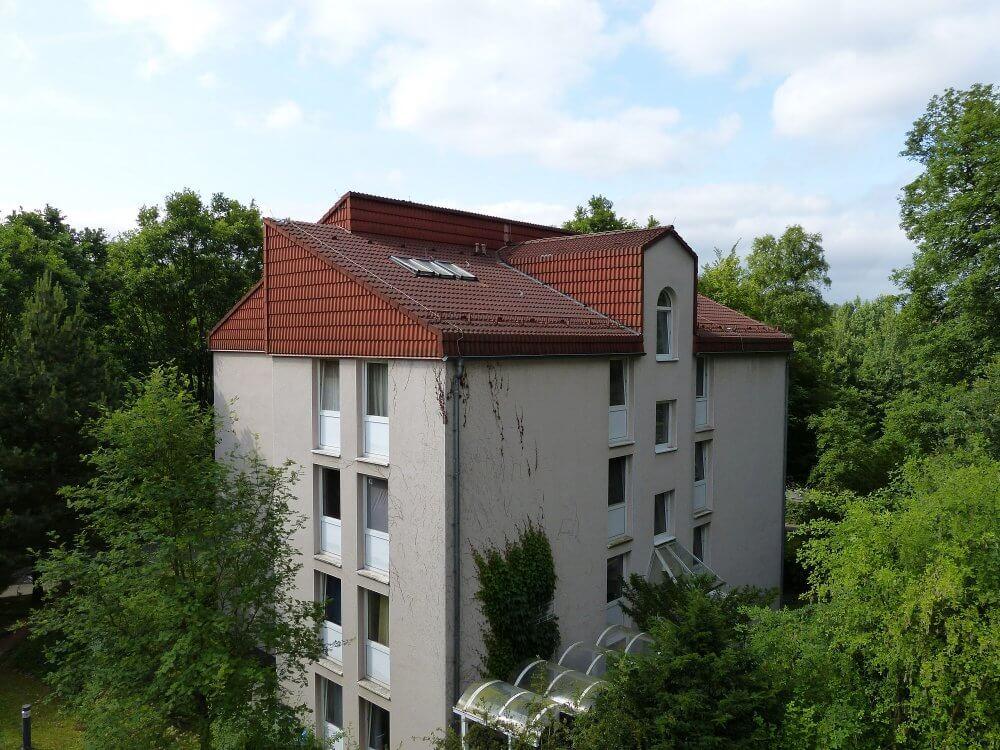 Blick auf das Christian Wolff Haus
