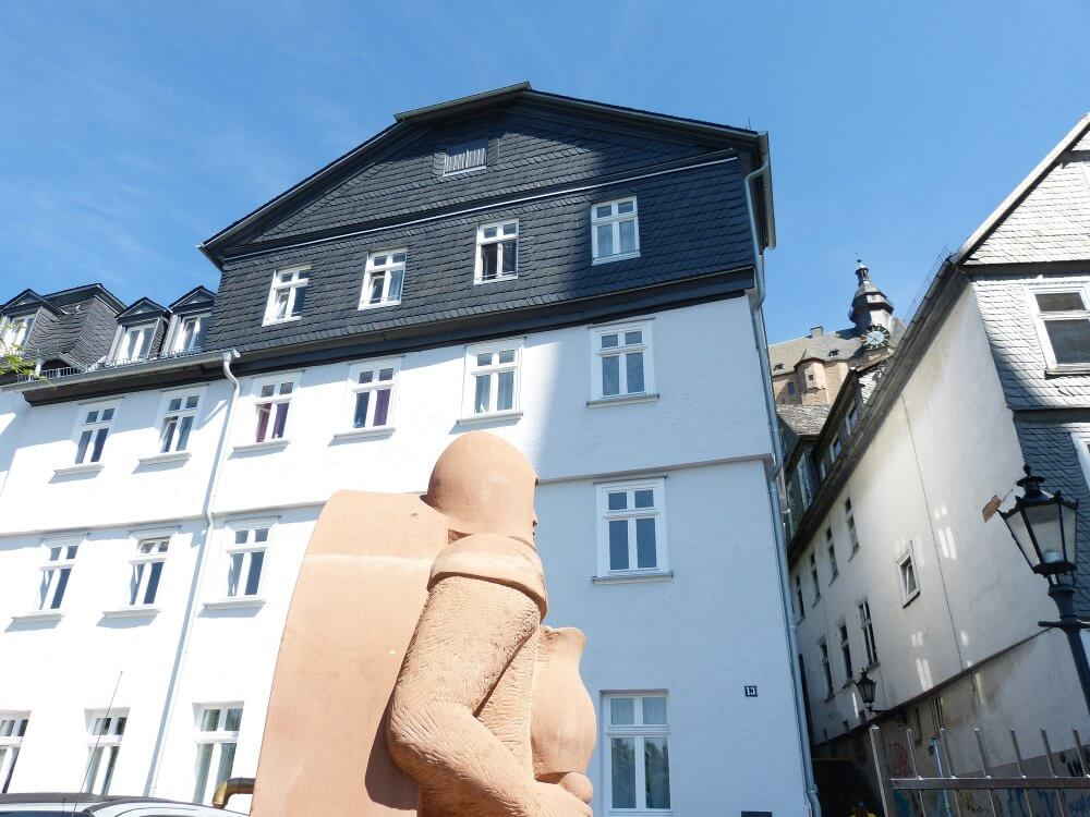 Blick auf das Wohnheim Ritterstraße 13