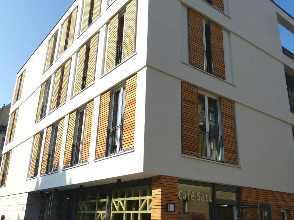 Blick auf die Gutenbergstraße 31