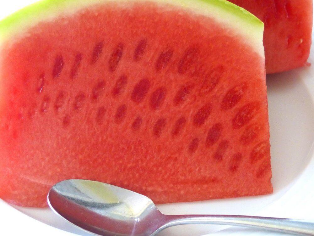 Eine reife Wassermelone