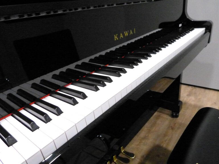 Eine Klaviertastatur