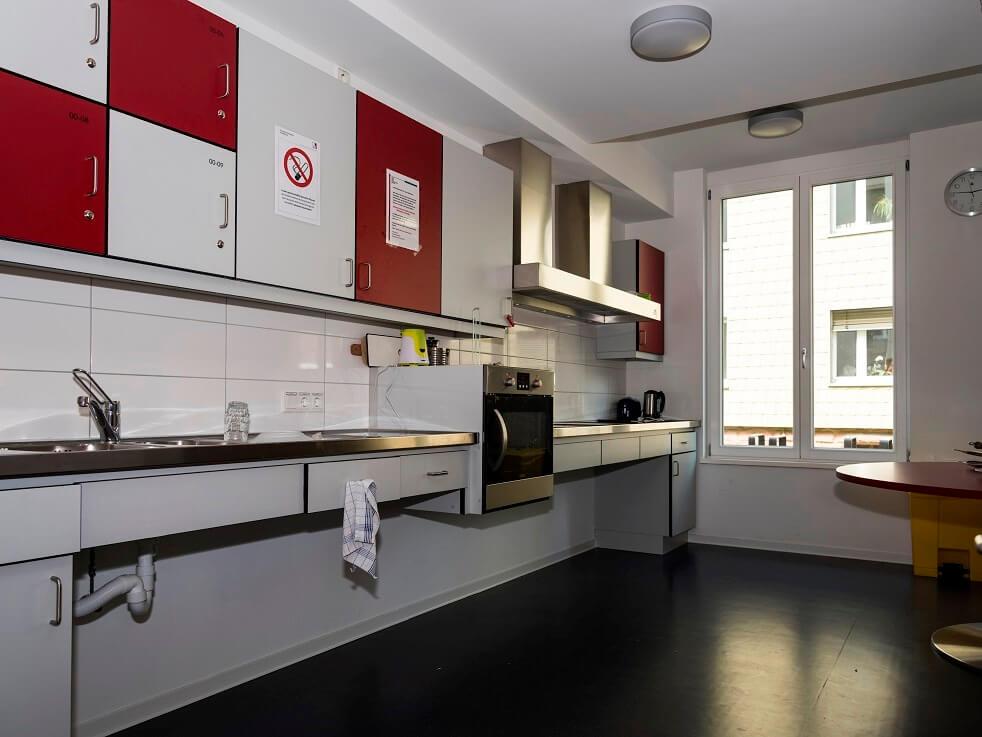 Küche des Wohnheims Gutenbergstraße