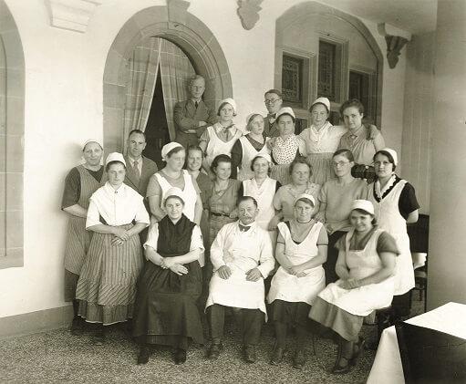 Küchenteam Mensa Reitgasse 1934