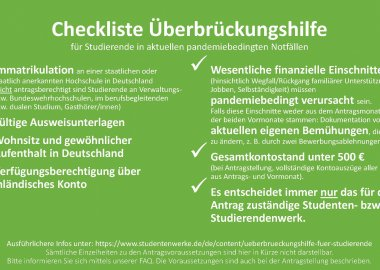 Checkliste Überbrückungshilfe: Das Wichtigste auf einen Blick